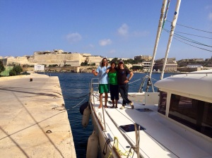 Saying bye to Chad in Malta